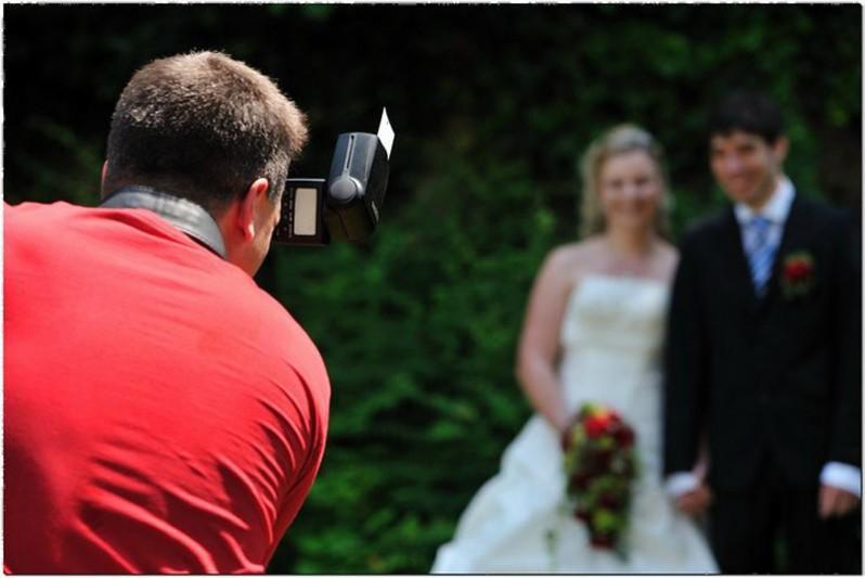 An einer Hochzeitsreportage
